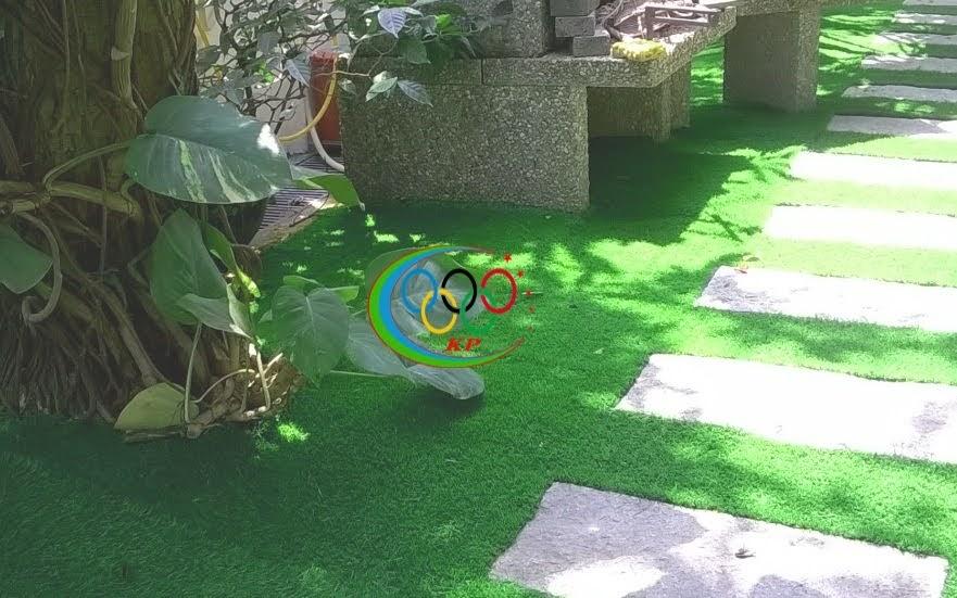 Công tác phục vụ tốt Cỏ nhân tạo sân vườn luôn làm các bạn mãn nguyện