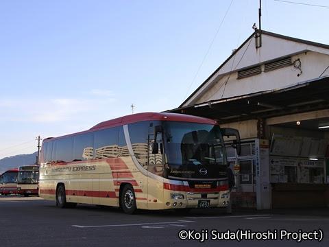 長電バス「ナガデンエクスプレス」大阪線 1453 湯田中駅到着_02