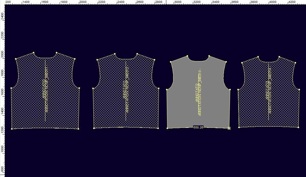 Tạo Rập Lồng Size Trong Optitex PDS Từ Rập Size Đơn 1