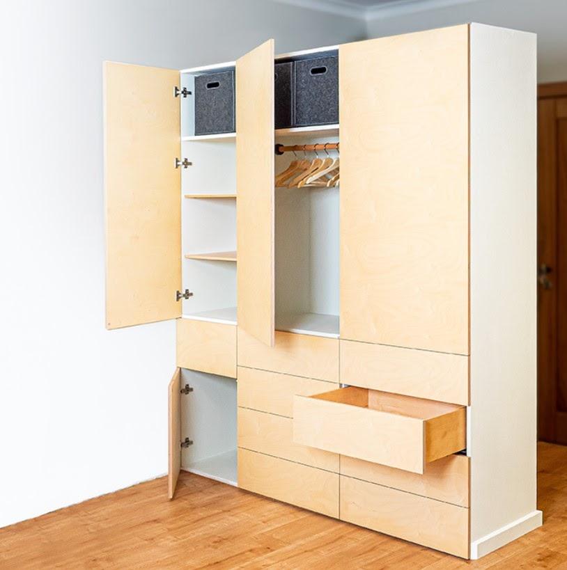фото шкафа-гардероба из фанеры