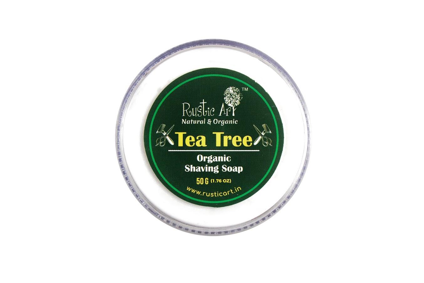 Rustic Art Tea Tree Shaving Soap