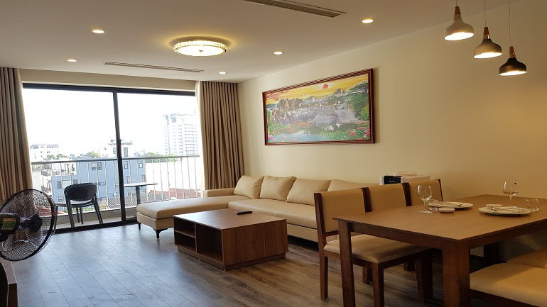 Spacious modern 1 – bedroom apartment with balcony in Tay Ho street, Tay Ho district for rent
