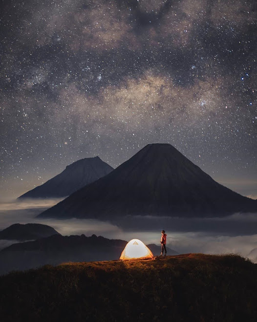 Milkyway Gunung Prau Dieng
