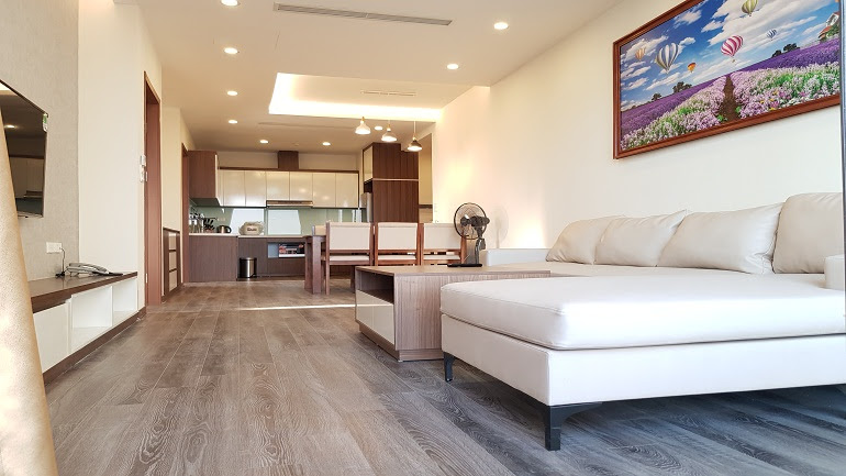 Elegant modern two bedroom apartment with balcony in Tay Ho street, Tay Ho district for rent