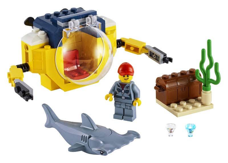 Contenido de Lego® 60263 Océano: Minisubmarino