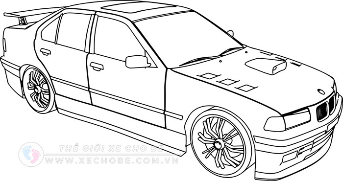 tranh tô màu xe ô tô cho bé 27