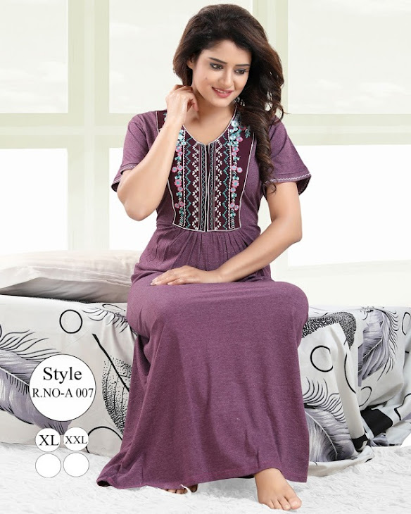 Embroidered Gown Vol 53B Kavyansika Designer Nighty Manufacturer Wholesaler