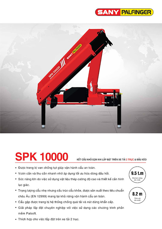 Cẩu Palfinger SPK 1000 được nhập khẩu nguyên thùng mới 100%