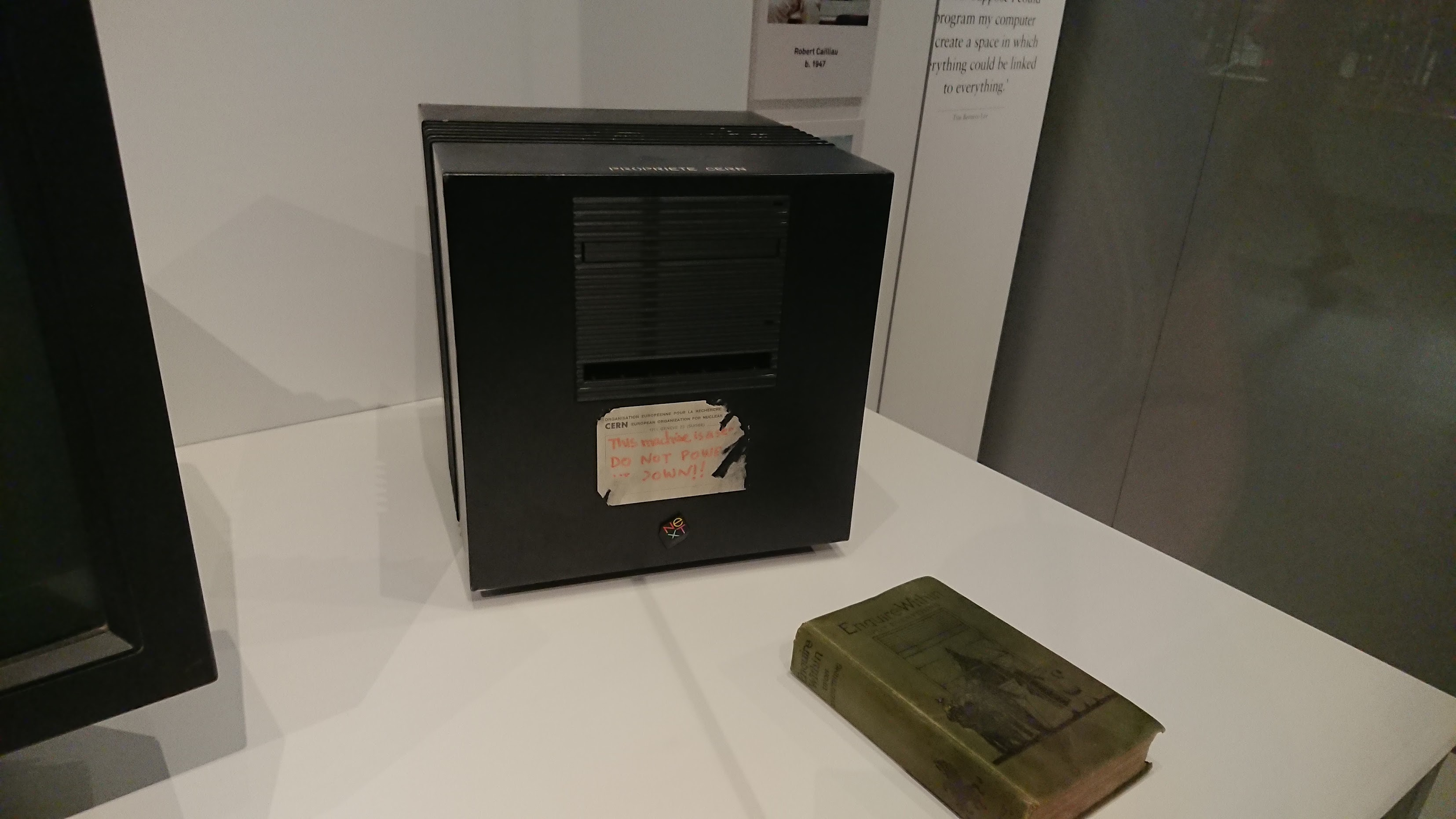 The first webserver, from Cern