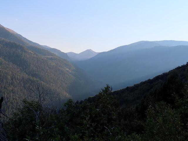 View up Beaver Creek toward Mount Belknap