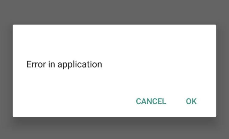 """Solved: How do I fix """"Error in application"""" show on my Android mobile phone frequently?"""