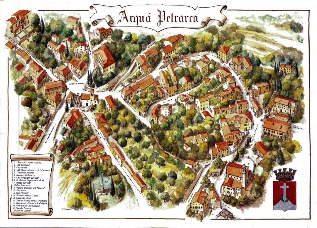 Arquà Petrarca mappa