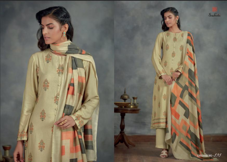 Ahalya Sudriti Sahiba Pashmina Dress Material Manufacturer Wholesaler