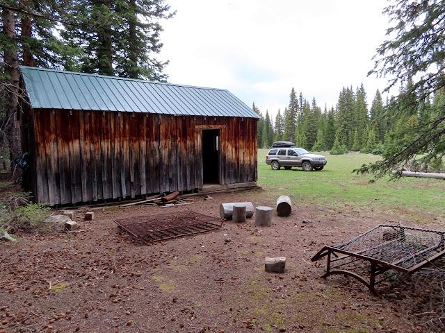 Cabin at old sawmill location near Oak Draw