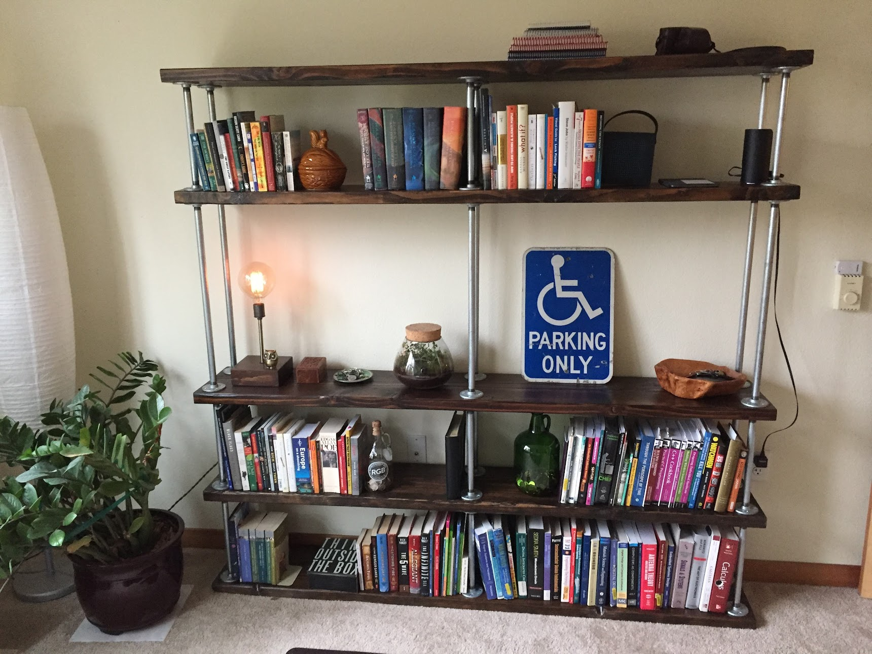 Populated bookcase