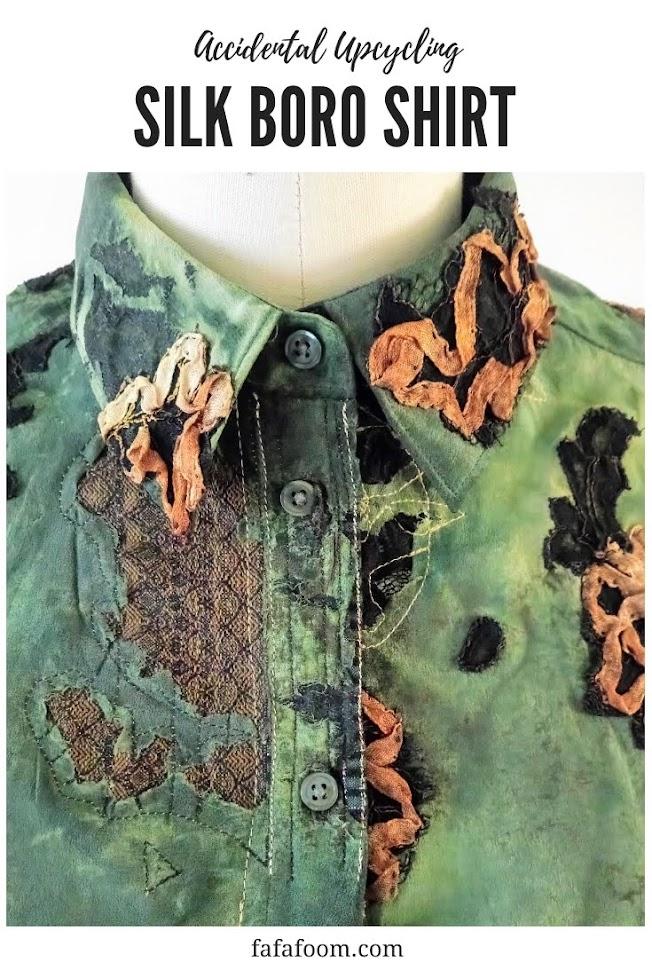 Accidentally Boro Shirt - Refashion + Repair   FAFAFOOM STUDIO