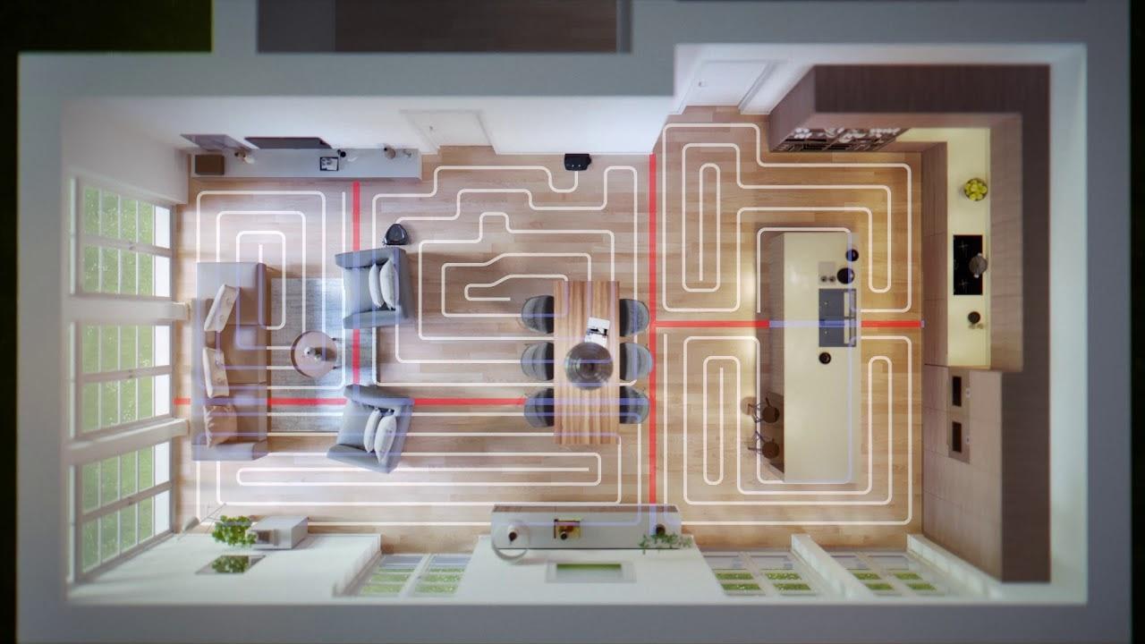 sơ đồ đường đi dọn dẹp của Robot hút bụi