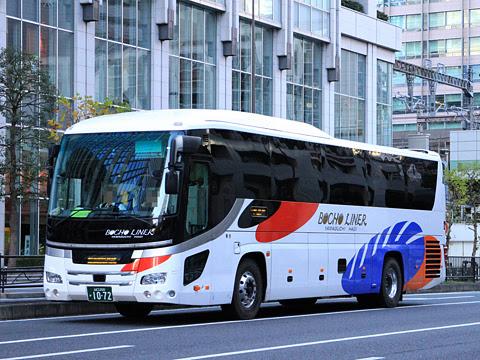 防長交通「萩エクスプレス」 1072 東京駅日本橋口にて
