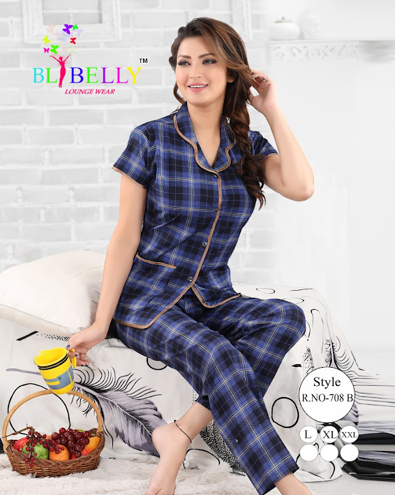 Fashion 186/3 Belly Ladies Night Suits Manufacturer Wholesaler