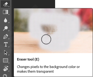 Eraser tools photoshop