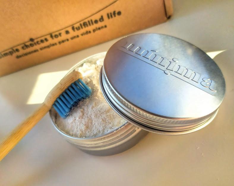 pasta de dientes en polvo de mínima organics