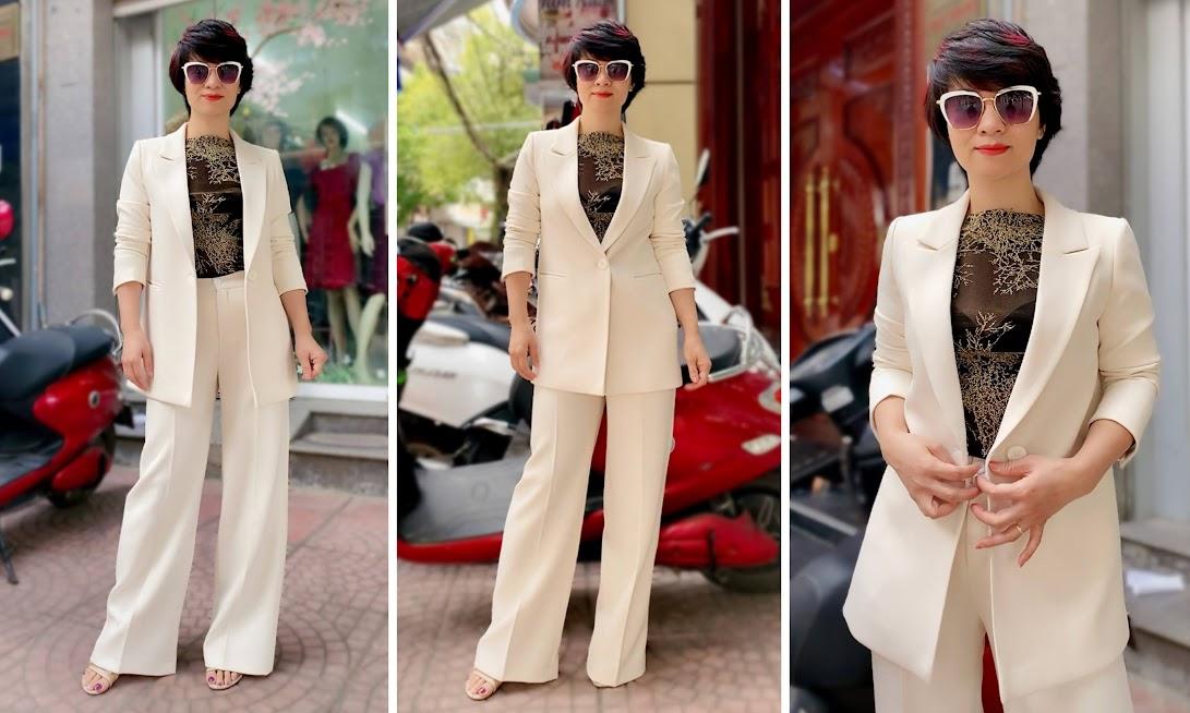 Áo vest nữ dáng suông và quần suông ống rộng V745 thời trang thủy ở hải phòng