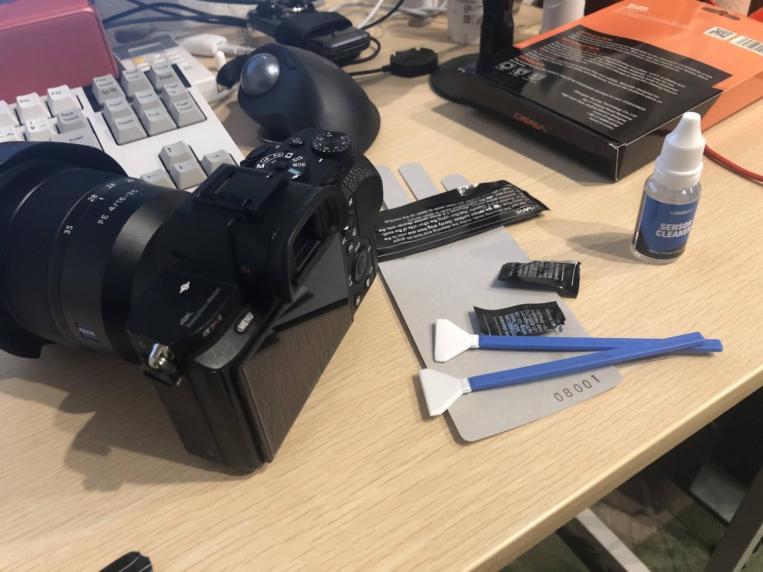 カメラのイメージセンサー掃除グッズを買ったよ
