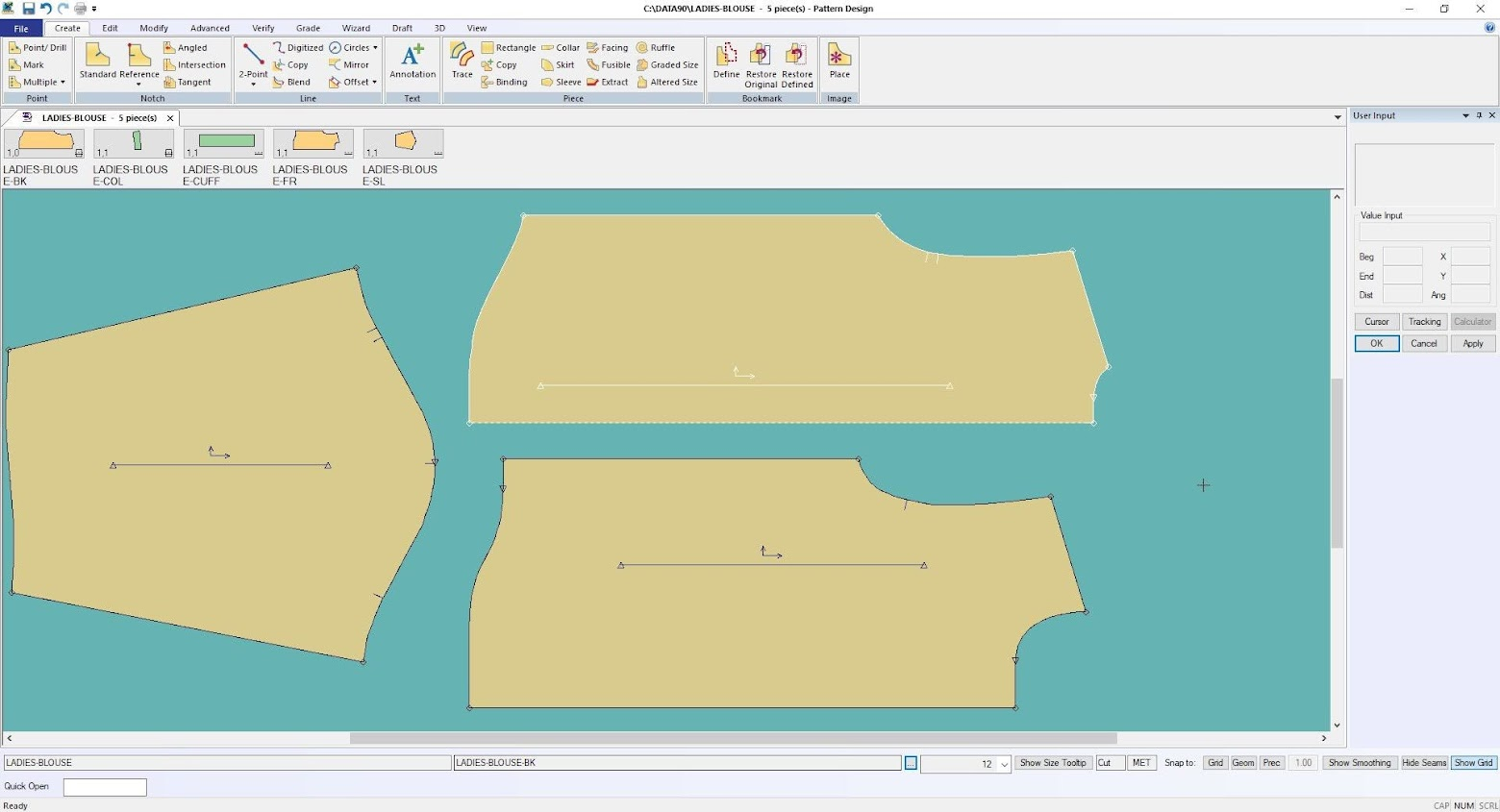 Gerber Pattern Design Point of Measurement: Cách Tạo Bảng Đo Thông Số 4