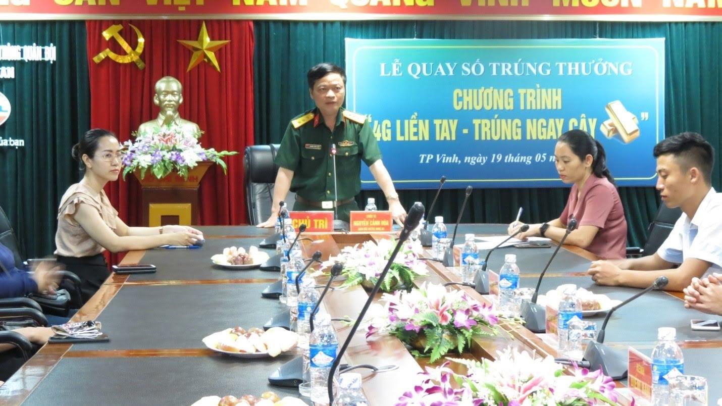 Ông Hoàng Văn Luân, Giám đốc kênh ViettelPay chủ trì chương trình quay số trúng thưởng