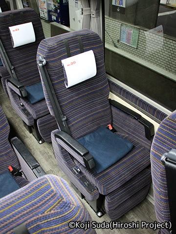 函館バス「高速はこだて号」 T3626 シート