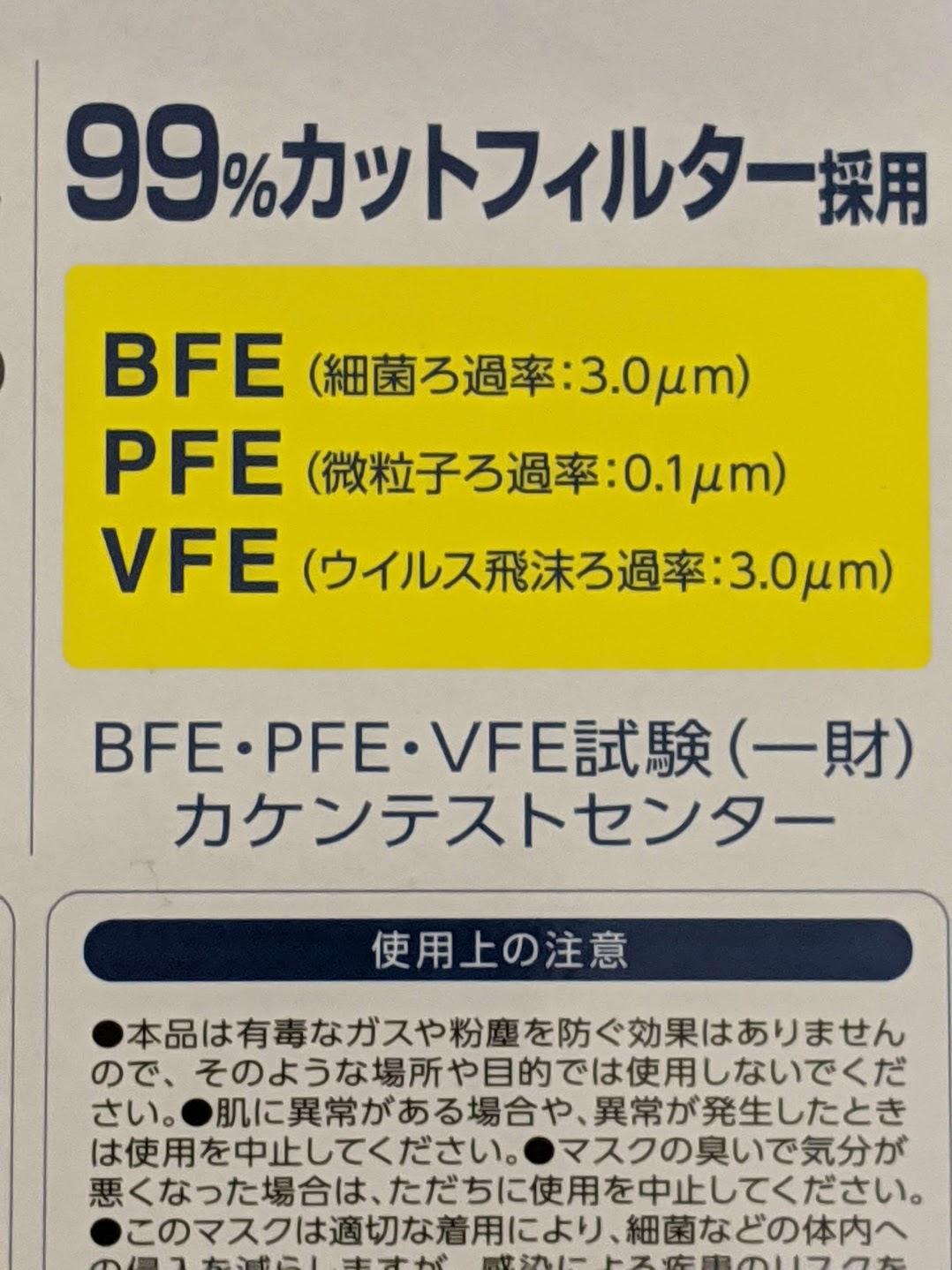 BFE PFE VFEマーク