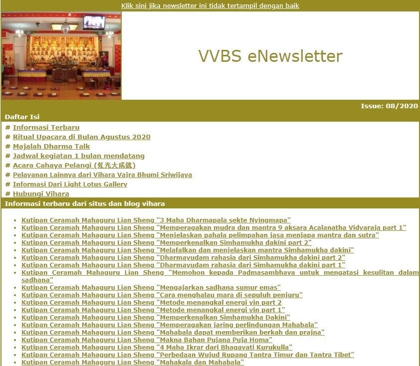 Newsletter Agustus 2020