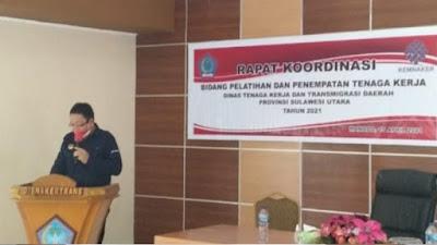 UPT BP2MI Manado dan Disnakertrans Sulut adakan Rapat Koordinasi