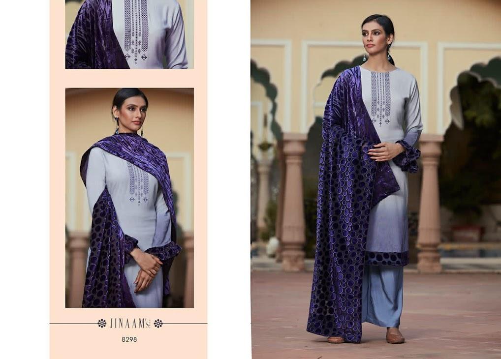 Saarah Jinaams Pashmina Dress Material Manufacturer Wholesaler