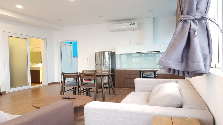 Spacious 1 – bedroom apartment with lake – view in Quang Khanh street, Tay Ho district for rent