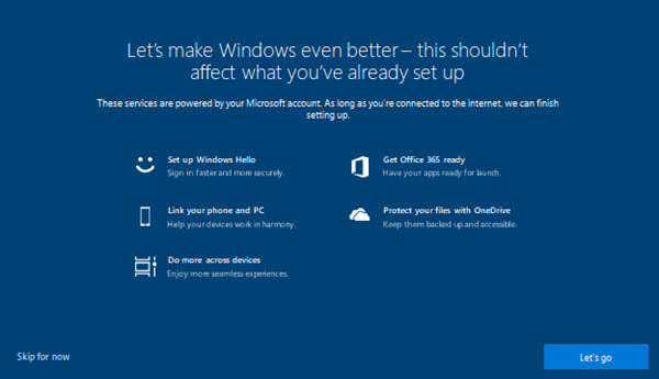 "How to Disable Windows 10 ""Let's make Windows even better"" Notification"