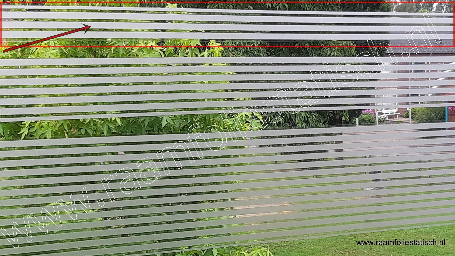 Statische raamfolie strepen strook 7,5cm d-c-fix