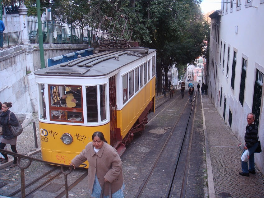 One of Lisbon's way of climbing the hill! Fly to Madeira via Lisbon!