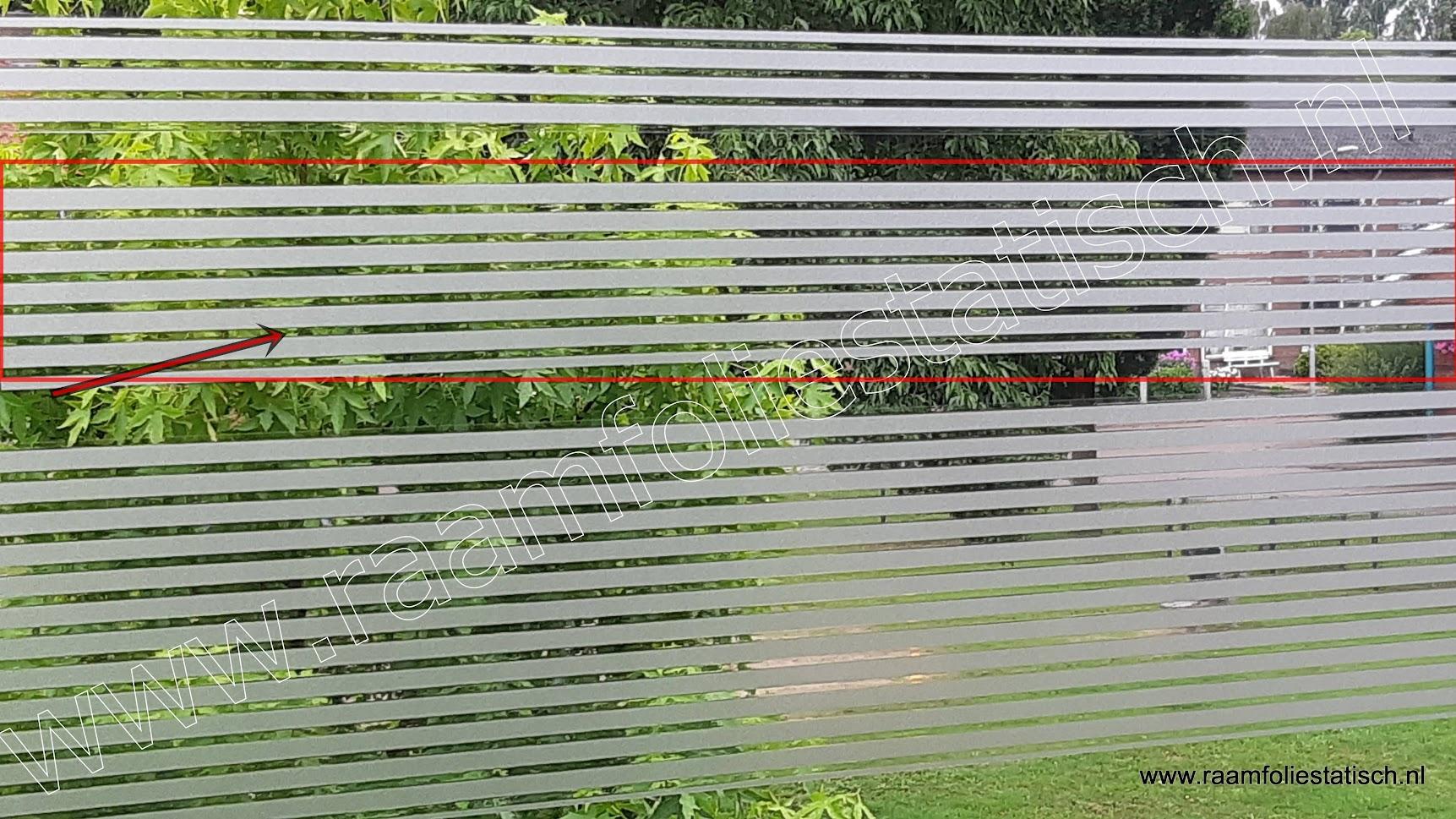 Statische raamfolie strepen strook 15cm d-c-fix