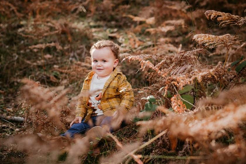 Sesión de fotos en el bosque