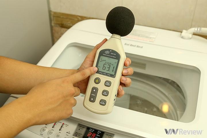 độ ồn của máy giặt Hitachi SF-S95XC  trong khi hoạt động