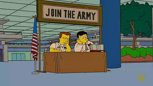 Los Simpsons 18x05 Homero en el ejercito