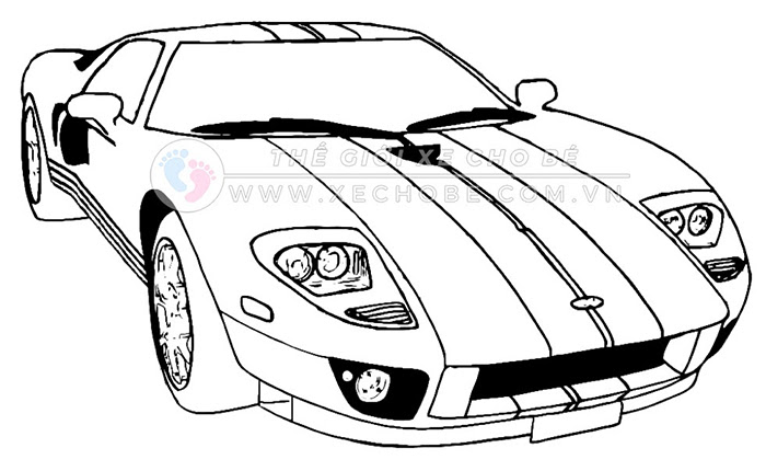tranh tô màu xe ô tô cho bé 9