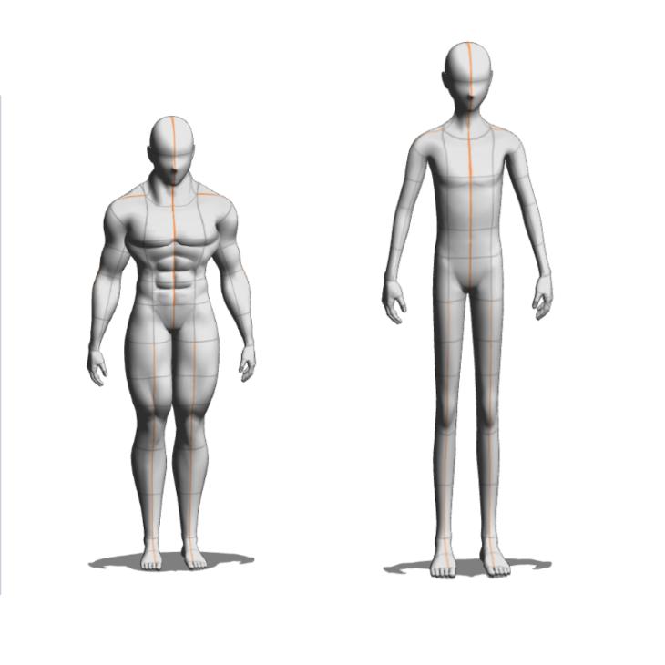 クリスタ3Dデッサン人形のカスタマイズ