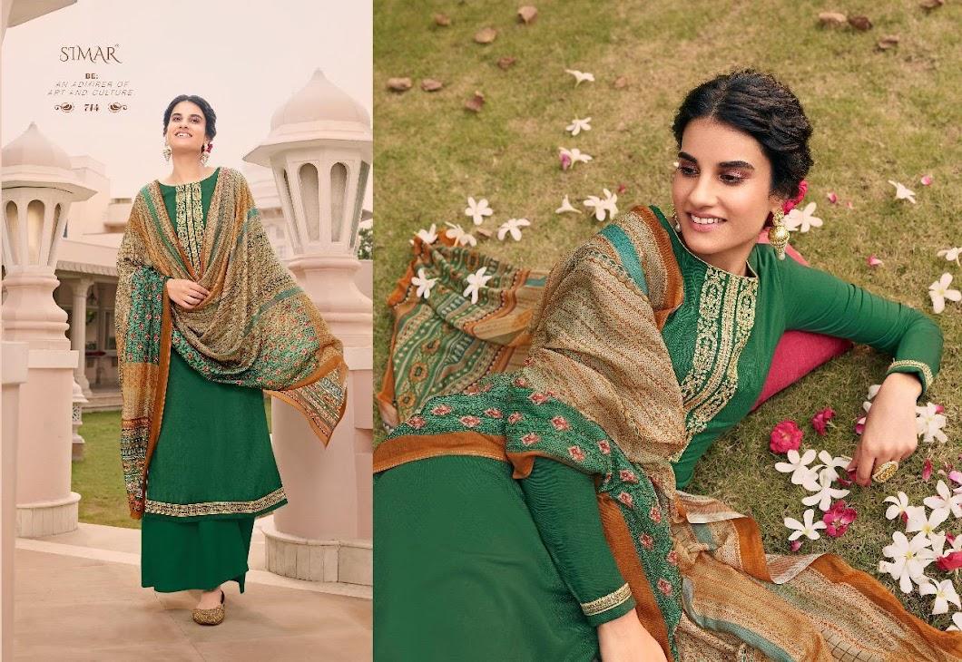 Verve Simar Glossy Plazzo Dress Material Manufacturer Wholesaler