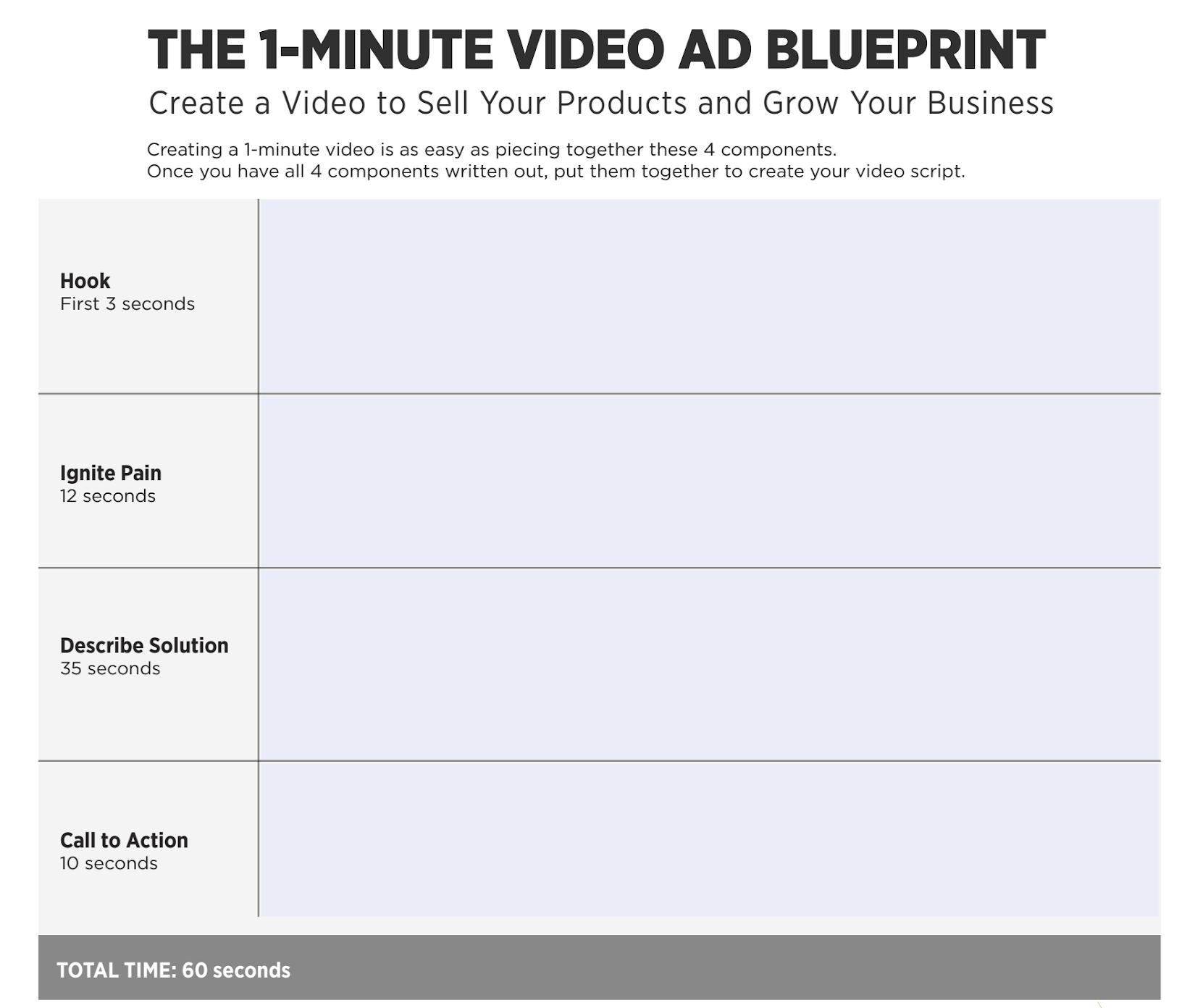1-Minute Video Worksheet
