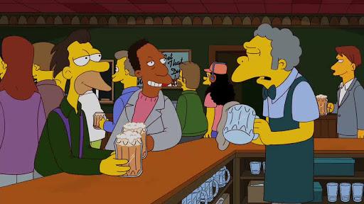 Los Simpsons 23x12 Moe a todo trapo