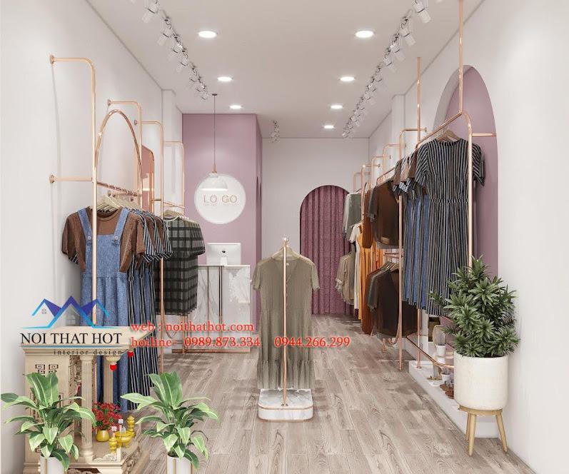 thiết kế shop thời trang nữ 20m2