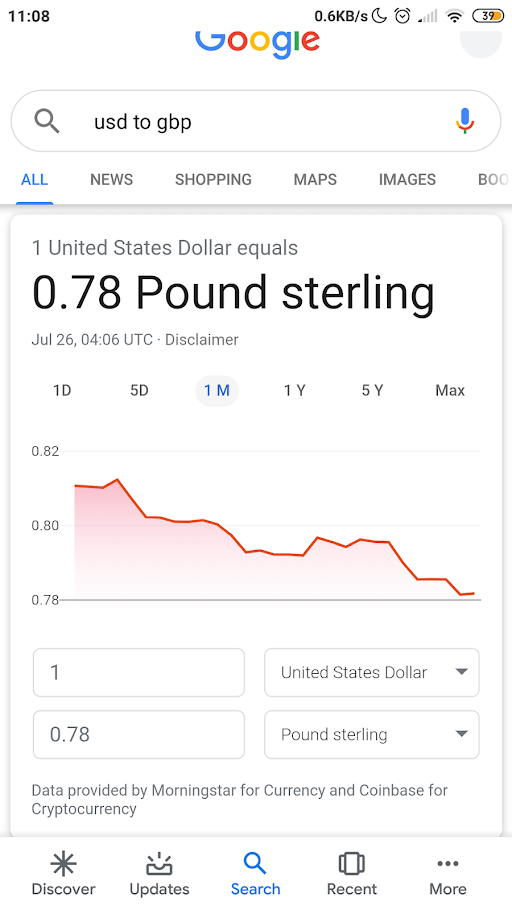 google currency