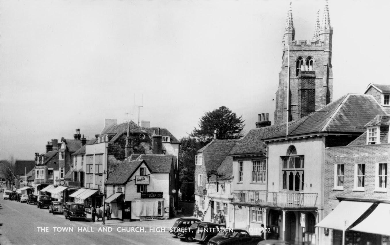 1950s Tenterden Town Hall, and High Street Tenterden